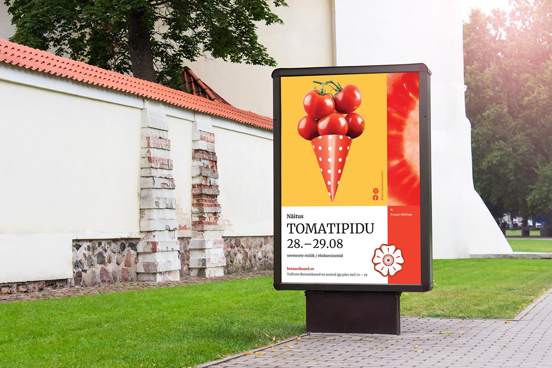 Outside street billboard PSD mockup template